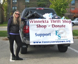 The Winnetka Thrift Shop left Make A Difference Day in October with a truckload of donations!
