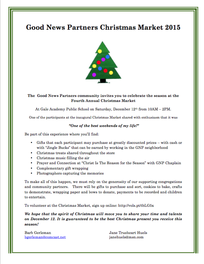 GNP Flier for Christmas Market 2015